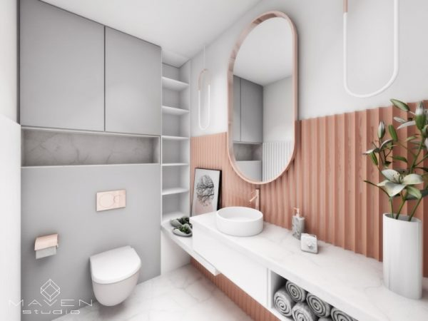 łazienka living coral